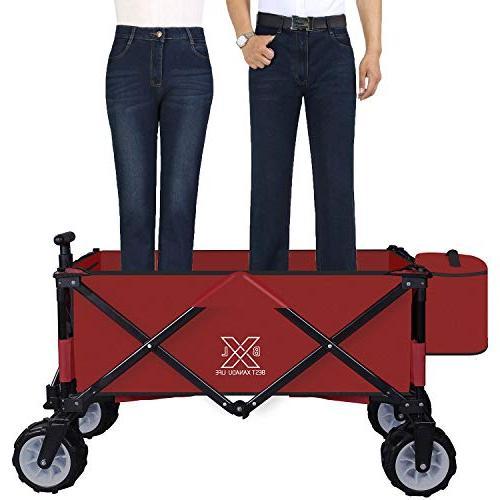 Folding Garden Cart Utility Wagon for