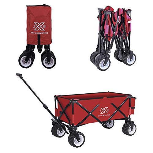 BXL Heavy Duty Folding Garden Wagon for Shopping