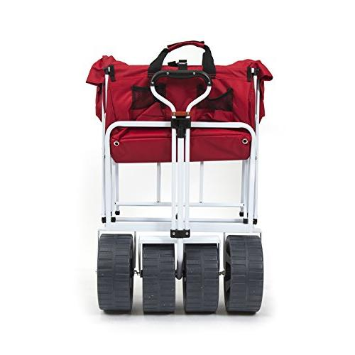 Collapsible All Utility Wagon - Red/White