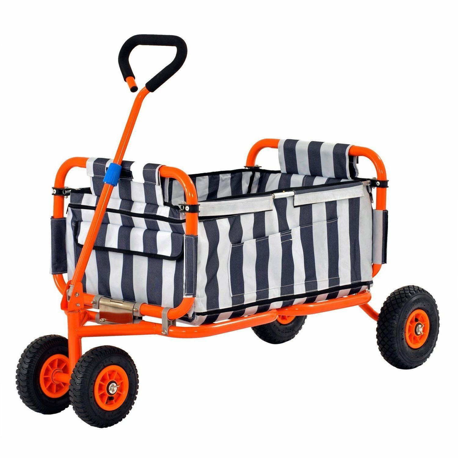 heavy duty collapsible folding wagon w liner