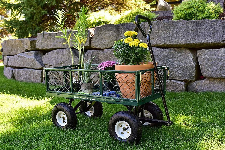 Garden Yard Dump Wagon Cart Cart Steel Duty