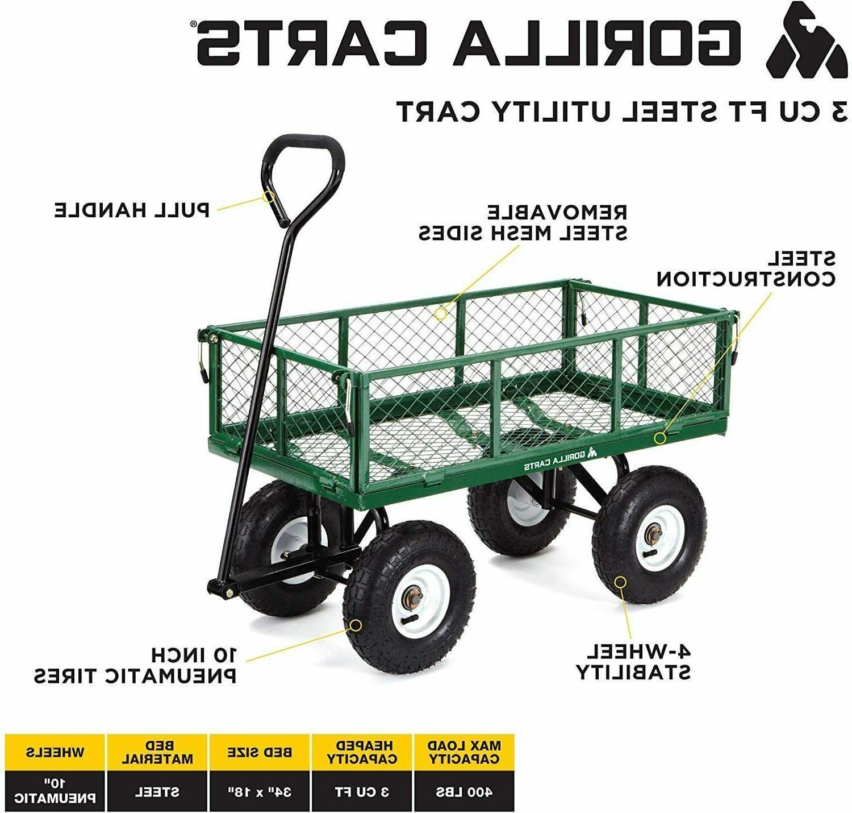 Garden Carts Yard Wagon Cart Steel Duty