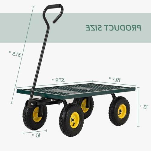 660LBS Heavy Garden Wagon Nursery Wheelbarrow Trailer