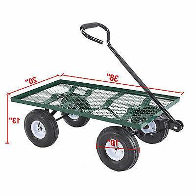 Garden Cart Wheelbarrow Steel Trailer