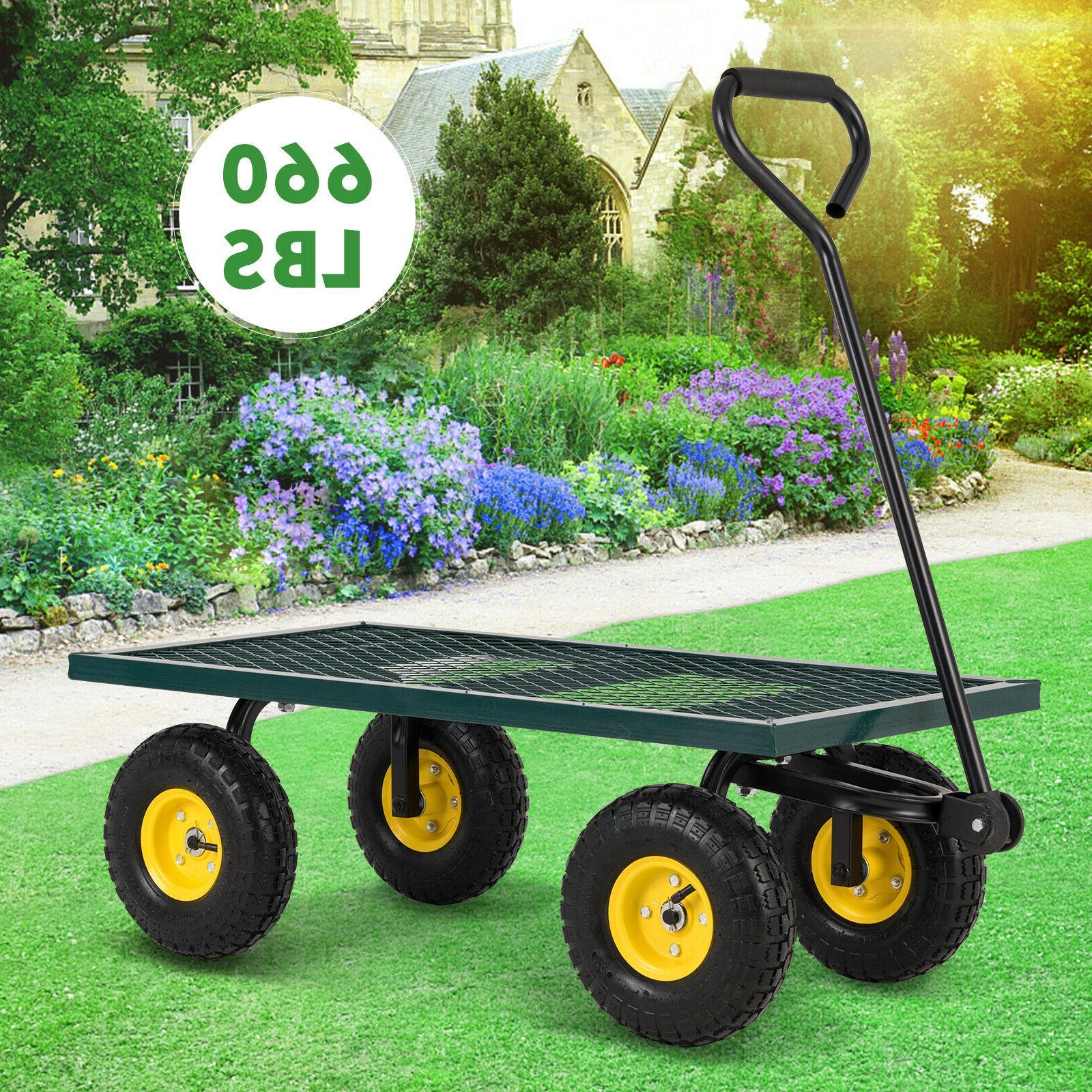 heavy duty utility garden wagon