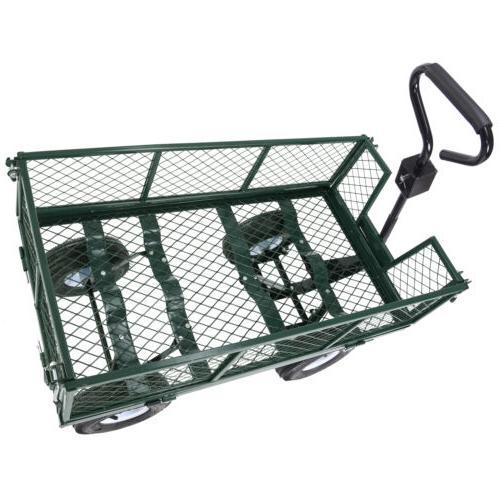 Garden Cart Wagon Wheelbarrow Trailer