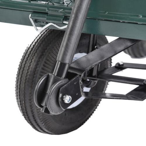 660lbs Heavy Duty Lawn Garden Utility Wagon Wheelbarrow Steel