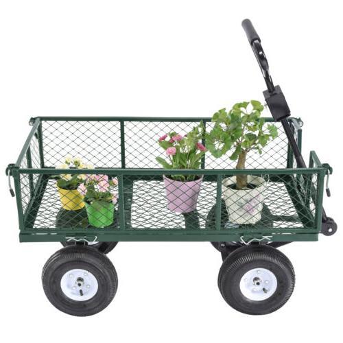 660lbs Garden Cart Wheelbarrow Steel