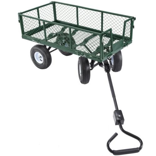 660lbs Duty Lawn Garden Utility Wheelbarrow Trailer