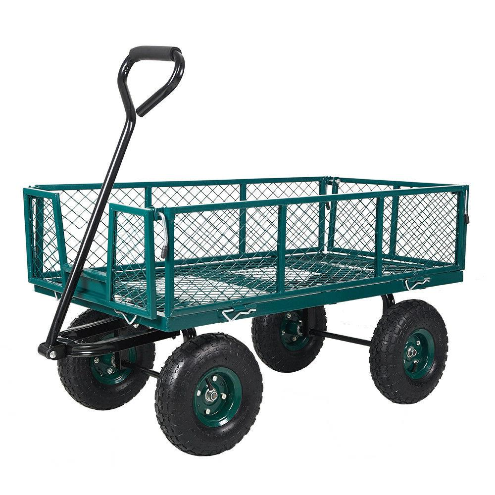 Home&Garden Utility Cart Steel Mesh/Wagon with Removable Sid