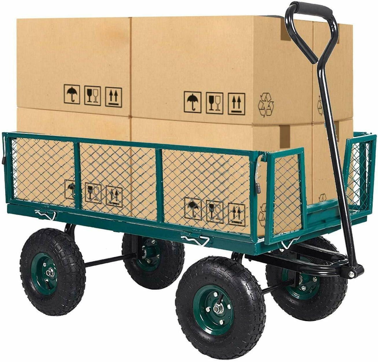 Home&Garden Steel Mesh/Wagon with Sides 550Lbs Capacity