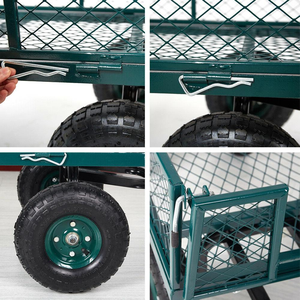 Home&Garden Utility Cart Steel Mesh/Wagon Sides 550Lbs