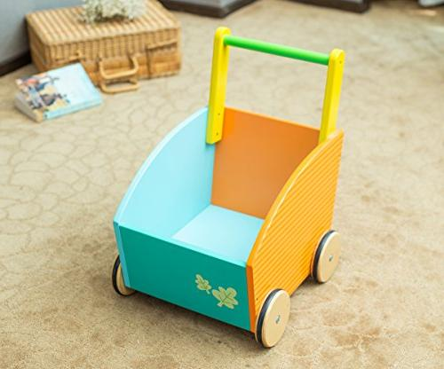 Labebe Little Learning Walker for Year Up, 2-in-1 as Toy Chest Toys for and - Owl