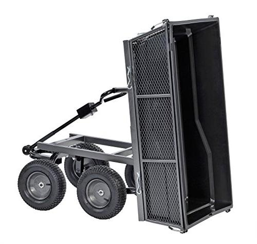 """Sandusky Lee CW5024 Carts Steel Cart with and Full with A Capacity 1200 lb, Silver 26.5"""" 48"""" Length, Load Capacity"""
