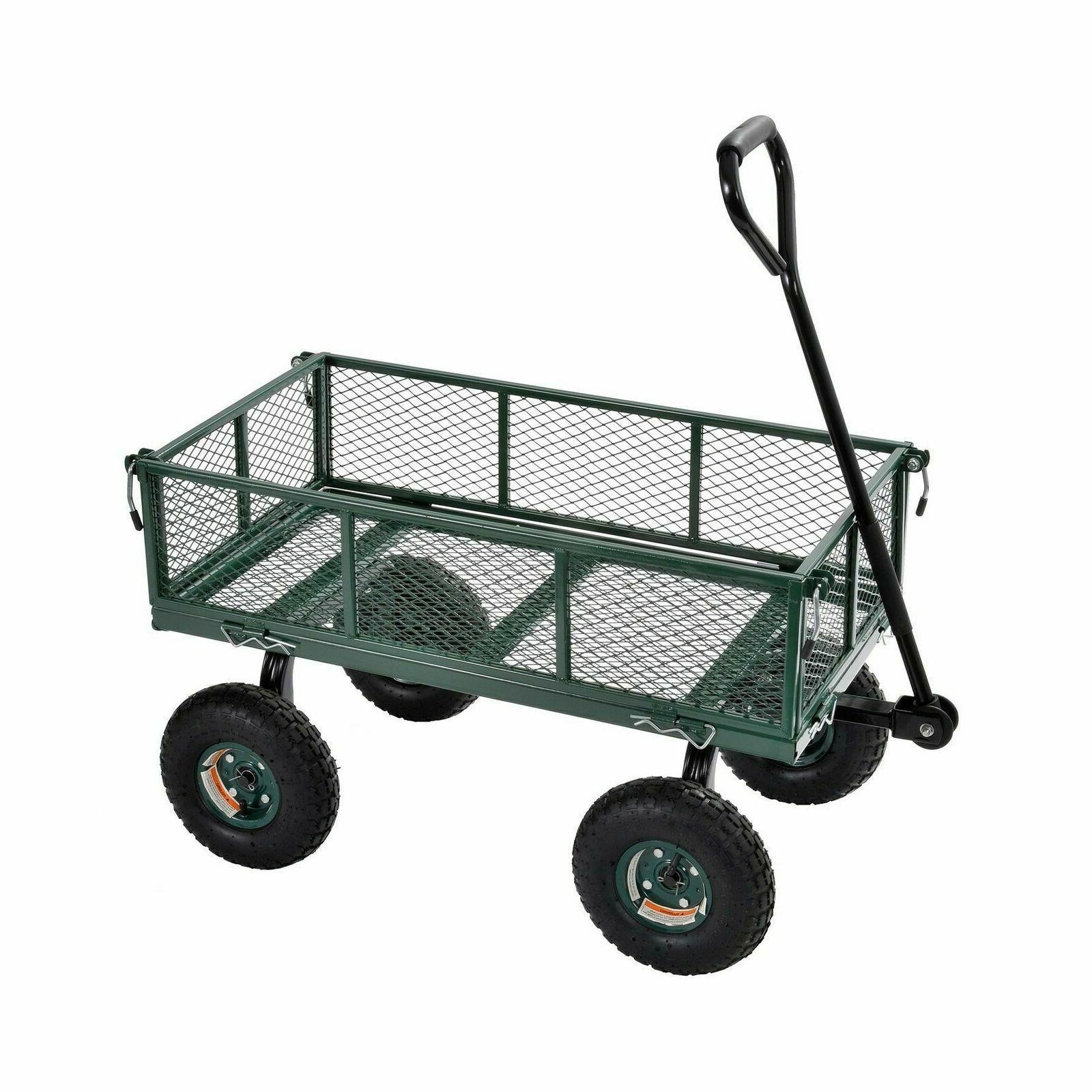 lee muscle cart steel utility garden wagon