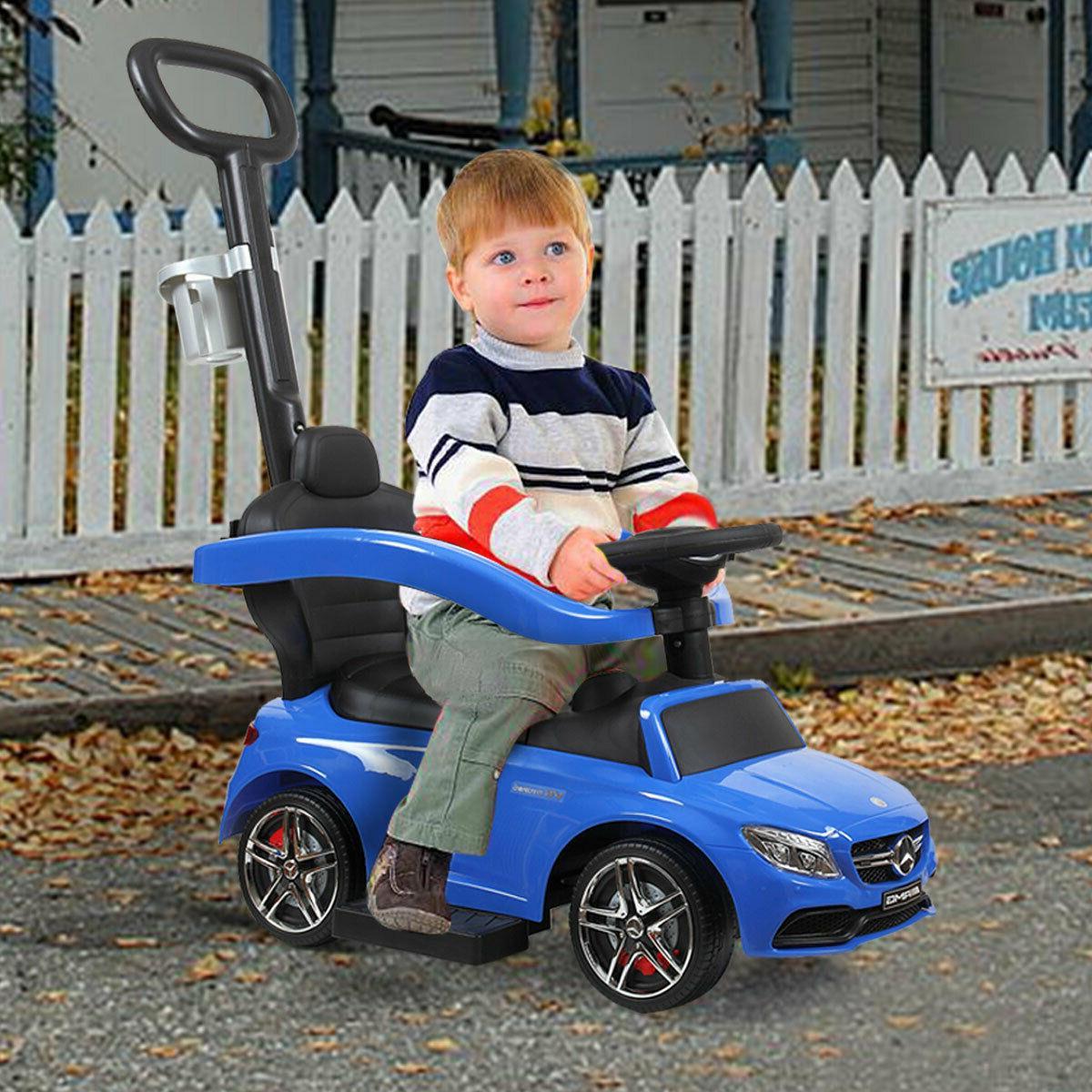 Licensed Mercedes Ride Push Stroller w/push rod