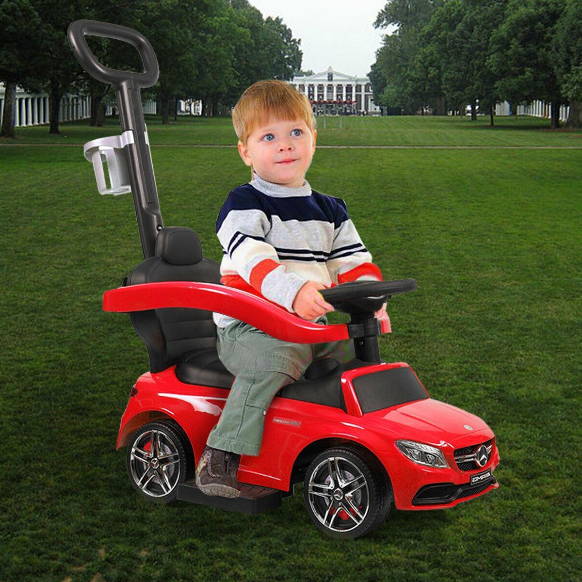 Licensed Ride Push Car Stroller Toddler w/push rod