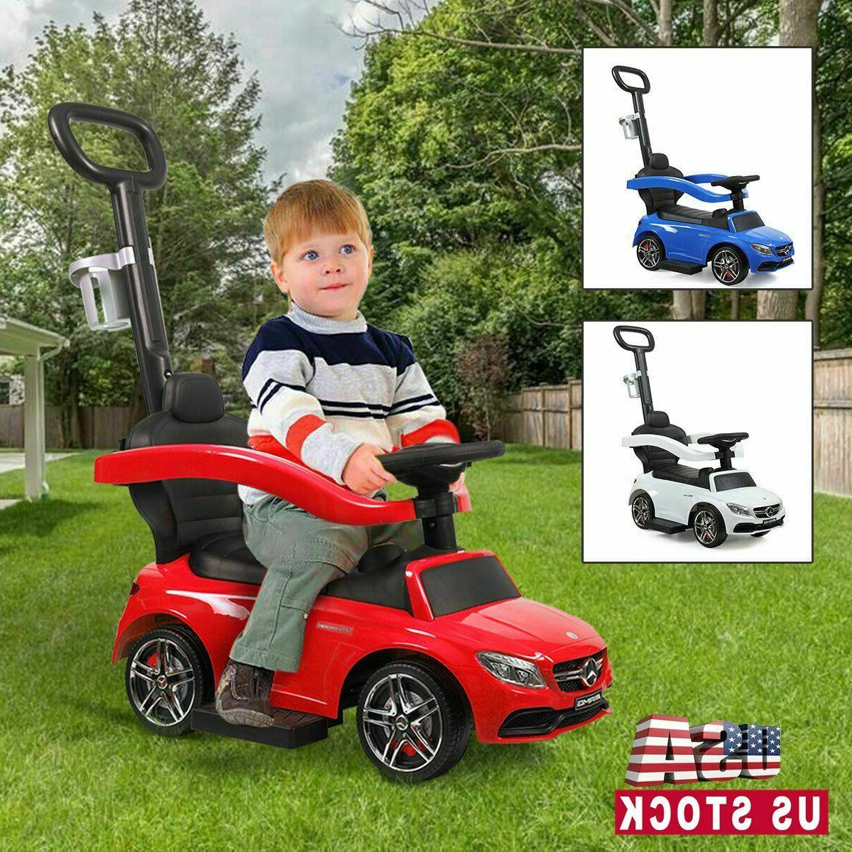 licensed mercedes benz kids ride on push