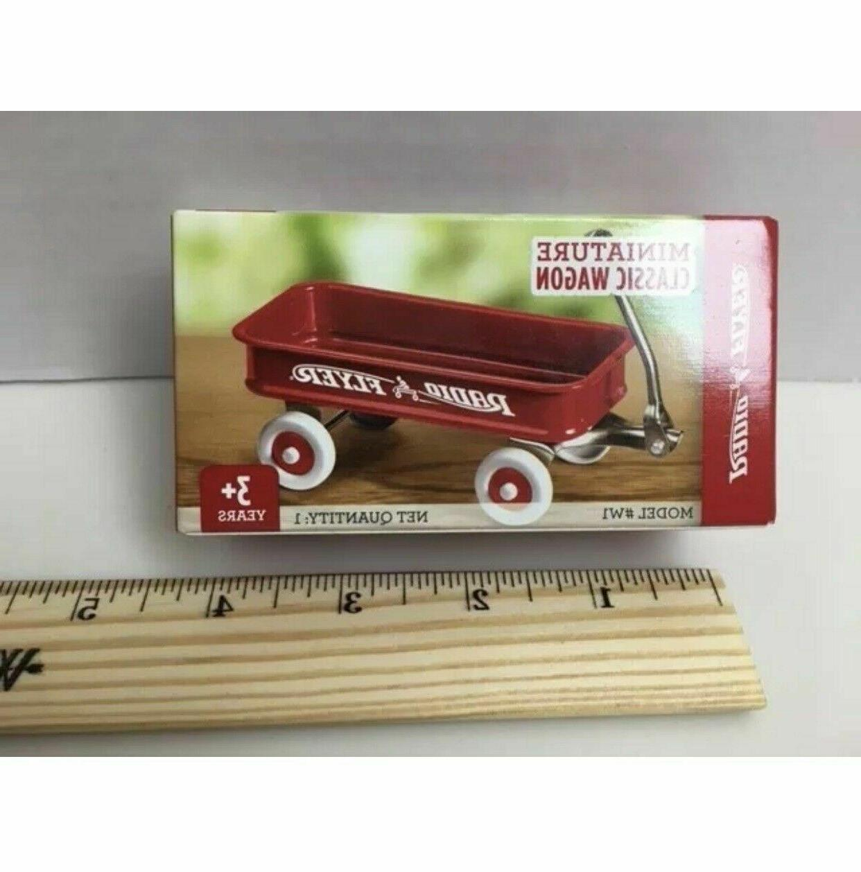Radio Flyer Miniature Classic Wagon Collectible W1, Red, Min