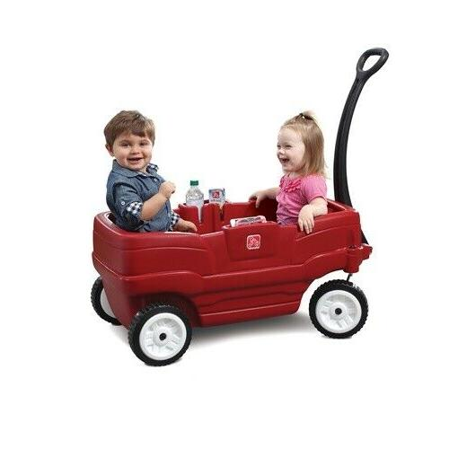 Step2 Neighborhood Wagon Red Toddlers Comfortable Transport Outdoor Fun