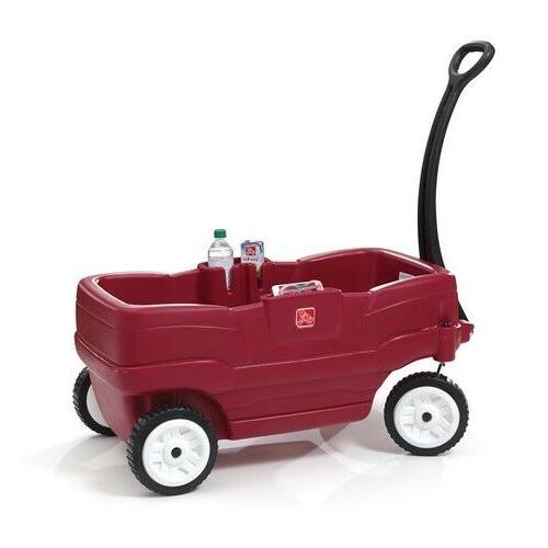 neighborhood wagon red toddlers ride comfortable transport