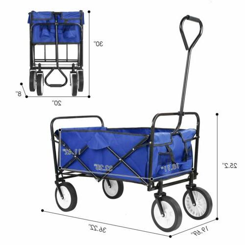 New Wagon Cart Collapsible Folding Garden