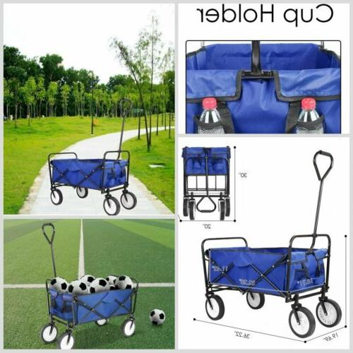 outdoor folding collapsible wagon heavy duty utility