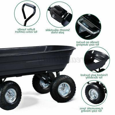 Outdoor Utility Pull Wagon Wheel Barrow Yard Tool