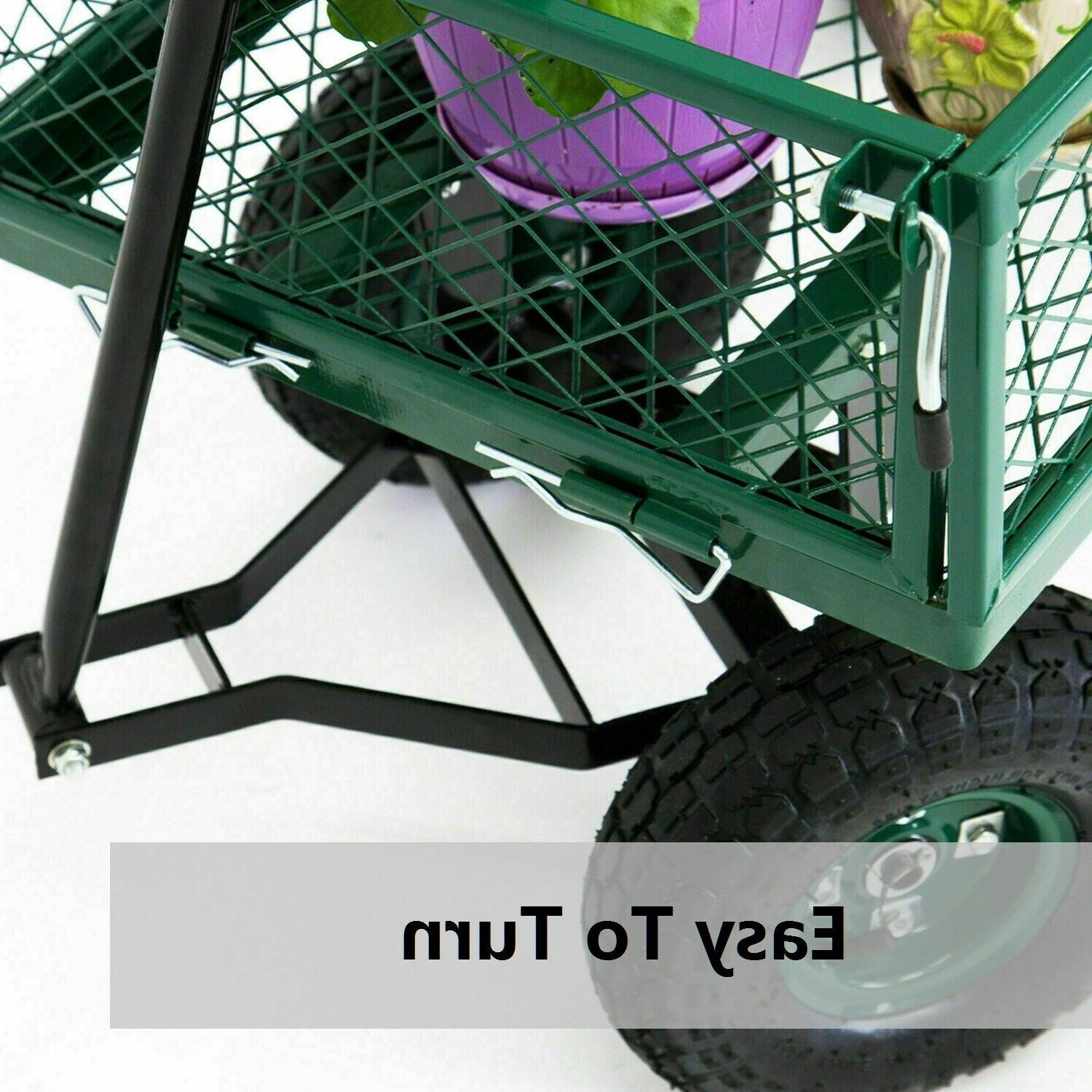 Outdoor Lawn Garden Utility Yard Trailer Removable Sides