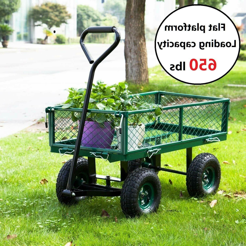 outdoor lawn garden cart utility yard pull