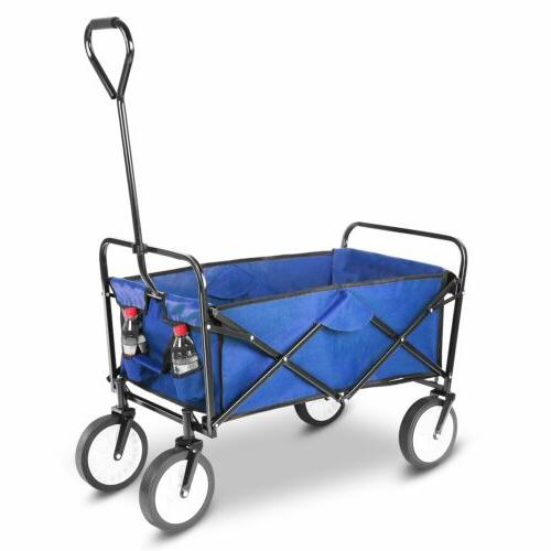 Collapsible Beach Wagon Folding Support 165lbs Utility
