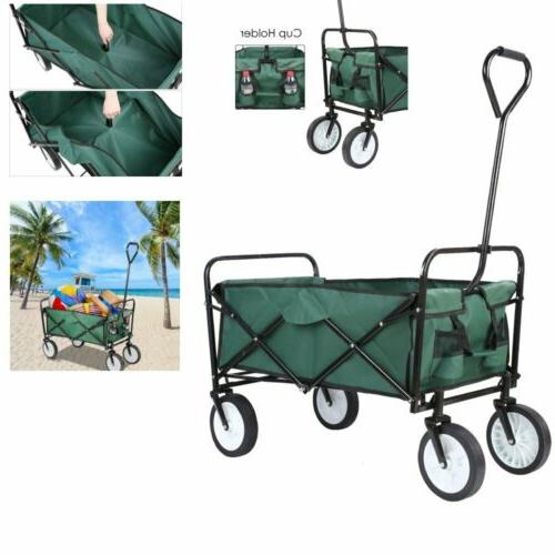portable collapsible outdoor utility wagon heavy duty