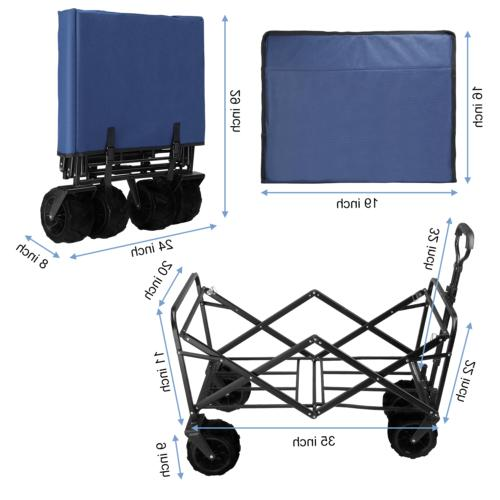 330lbs Cart Collapsible Folding Camping Trolley