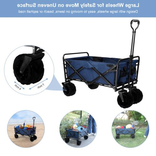 330lbs Wagon Cart Collapsible Camping Trolley Garden