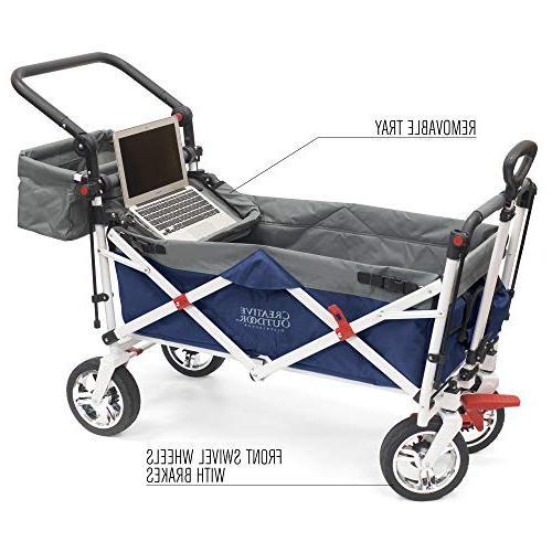 Creative Collapsible Folding Wagon Cart Silver Park Garden &  