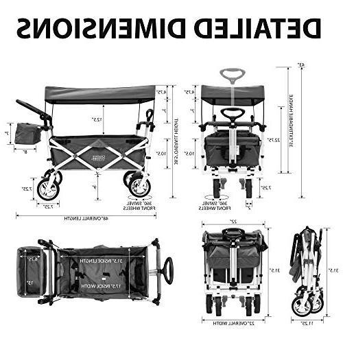 Creative Collapsible Folding Wagon Silver Park   Navy