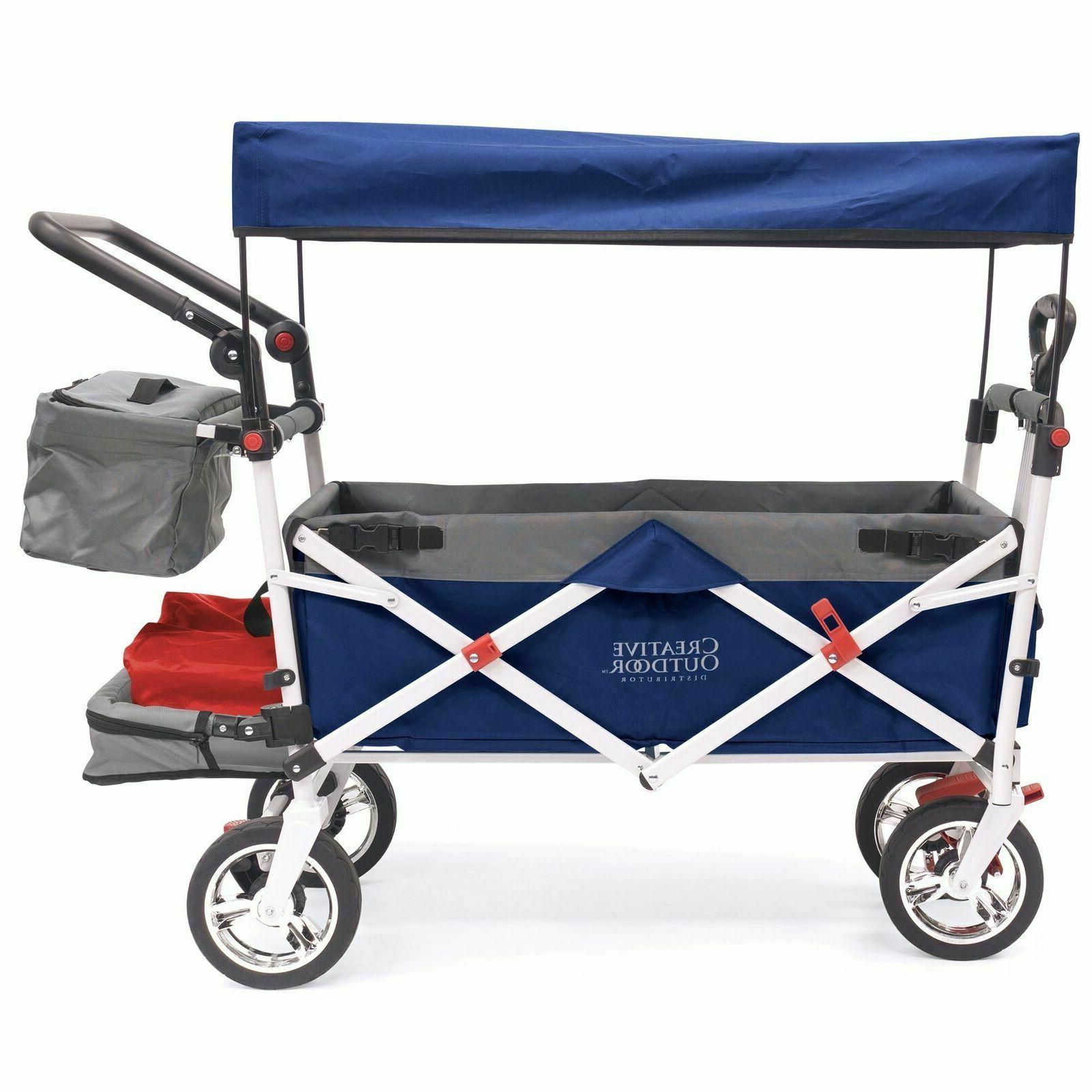 push pull collapsible folding wagon