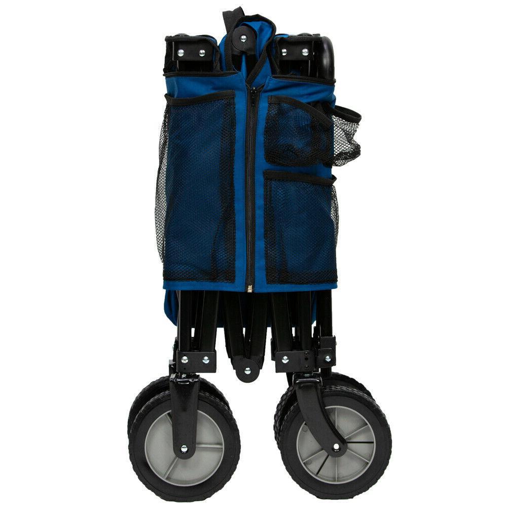 Compact Size Quad Folding Wagon Camping Handle