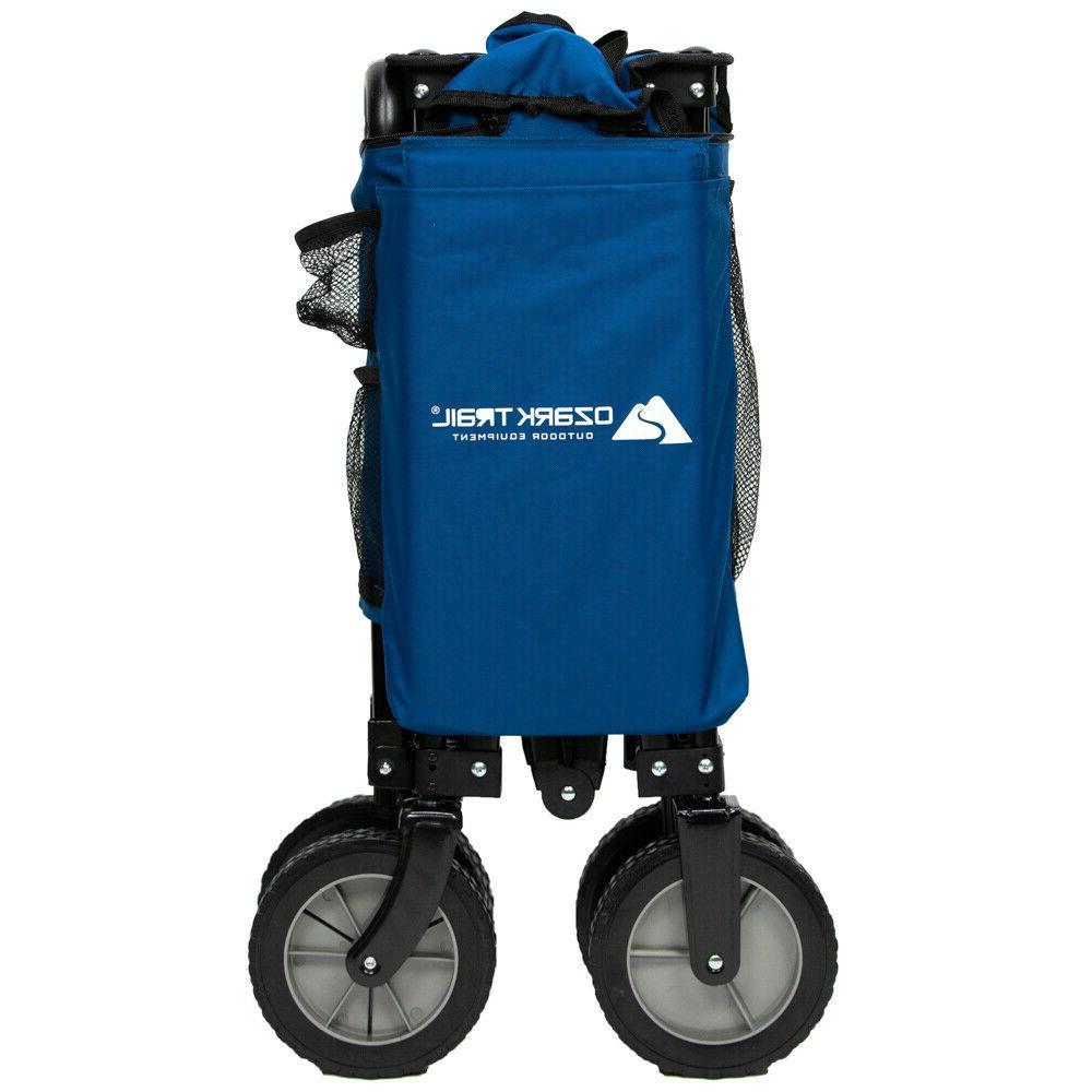 Compact Quad Folding Wagon Cart Camping Gear w/ Handle