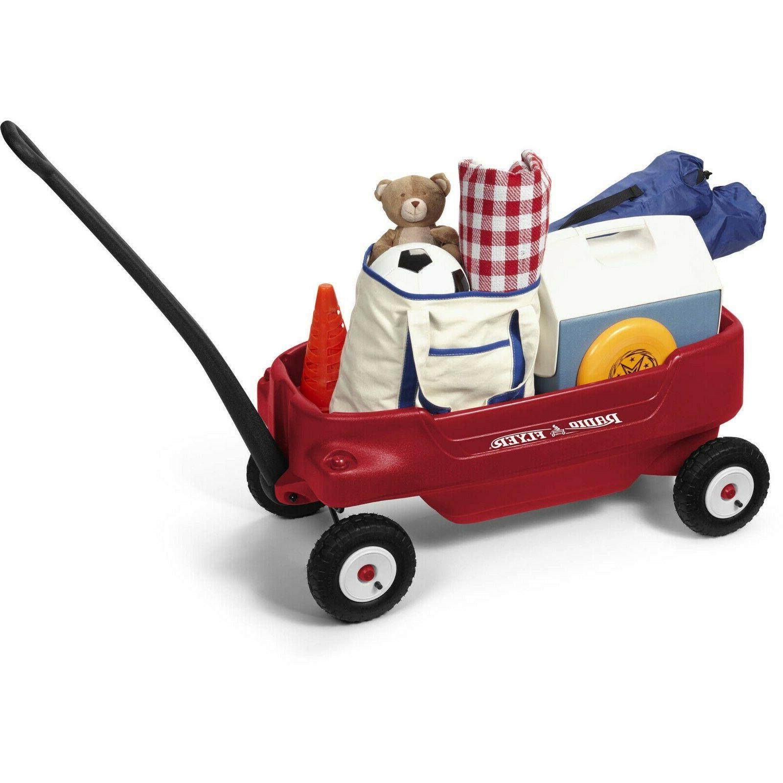 Radio Flyer, Deluxe All-Terrain Pathfinder Wagon with Canopy Air Step2