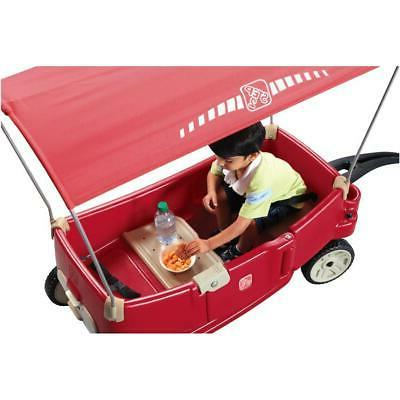 Red Resin Children's Wagon, with