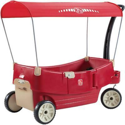 red resin children s wagon with all