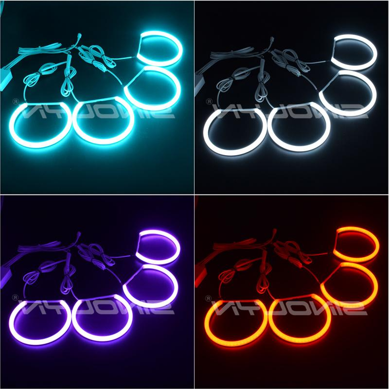 RGB Eyes Halos Multi-Color For BMW 3 E46 Sedan/<font><b>Wagon</b></font>/Coupe Projector Headlight