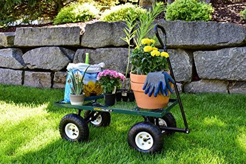 Gorilla Carts Garden Cart with Sides, 400-lbs.