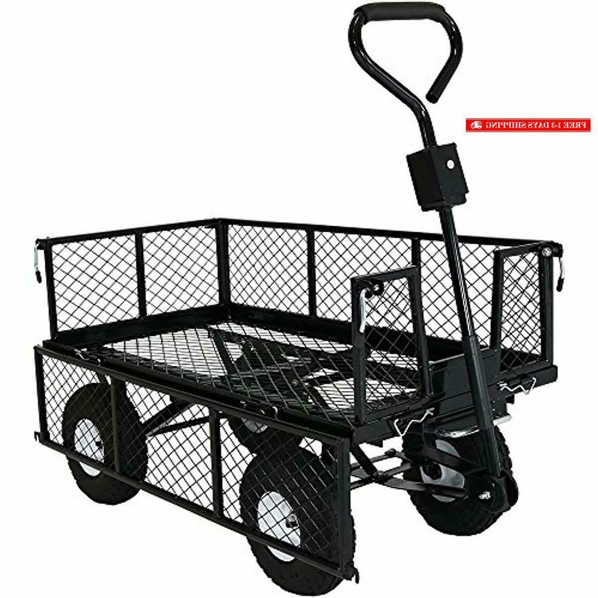 Sunnydaze Utility Garden Wagon
