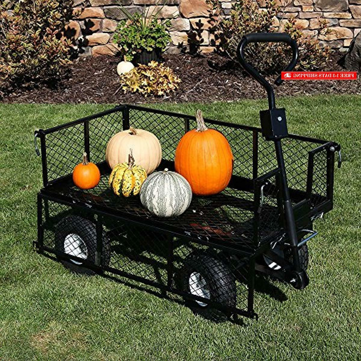 Garden Outdoor Wagon with Removable Side