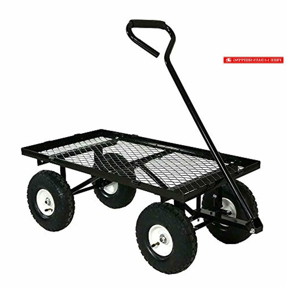 Sunnydaze Utility Cart, with Removable Sides,