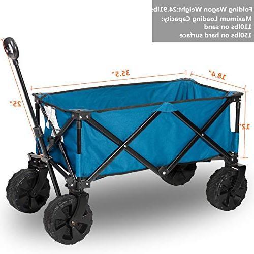 Timber Ridge Folding Wagon/Cart Steel Garden/Beach