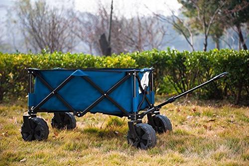 Timber Folding Camping Wagon/Cart - Steel