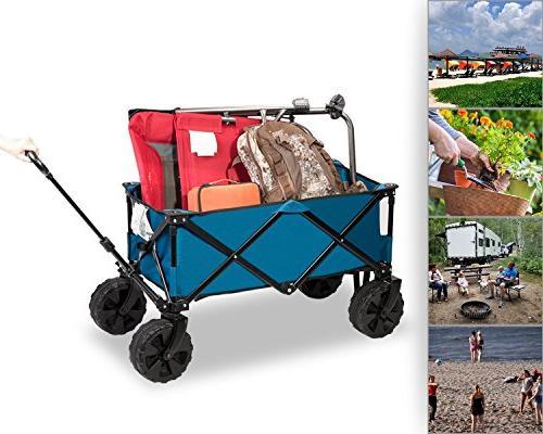 Timber Ridge Wagon/Cart - Sturdy Steel Garden/Beach Wagon/Cart